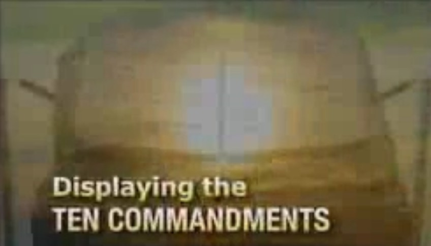Displaying the Ten Commandments