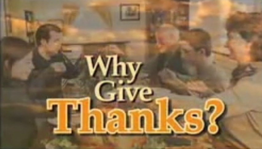 Why Give Thanks?